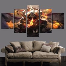 5 paneles LOL liga de leyenda Jax juego lienzo impreso pintura para pared de salón de arte decoración del hogar imagen HD póster d