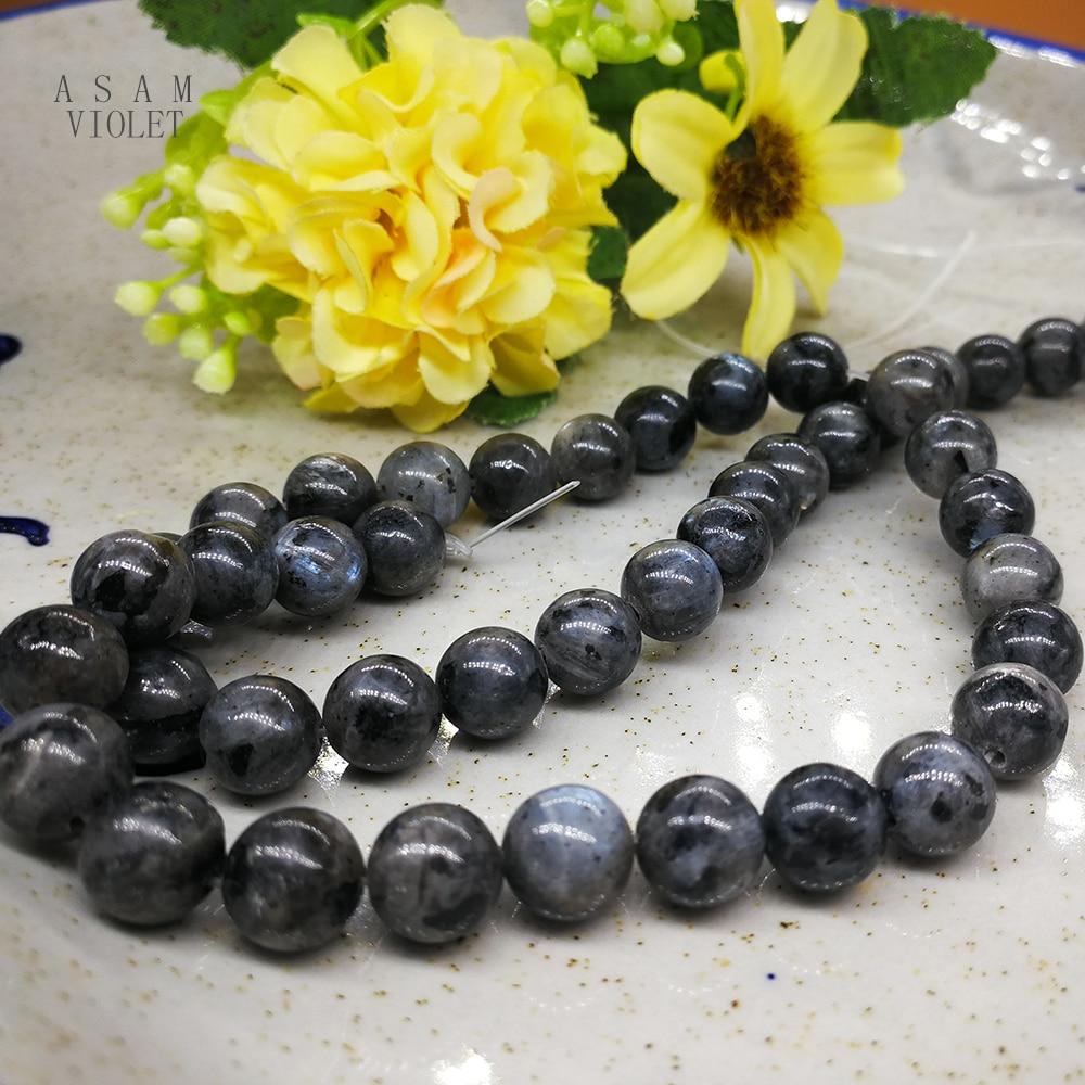 Natural Stone Flash Beads Shining Glistening Round Loose Beads Strand for Man Wonem Jewelry Making DIY Bracelet Charms Beads