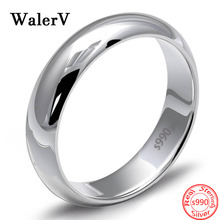 100% S990 Sterling Silver Romantic Letter Love Opening Heart Shape Rings for Women 925 Wedding Jewelry