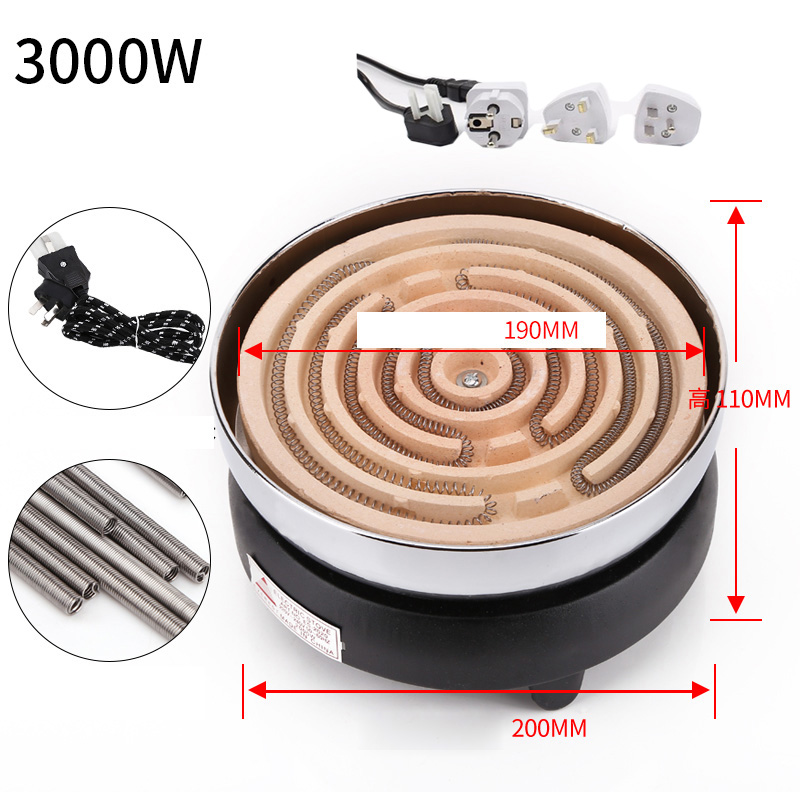 220V Kitchen Lab Mini Electric Stove Electric Household Furnace Thermostat Hot Milk Cooker Travel Hot Plate Hot Cook Heater