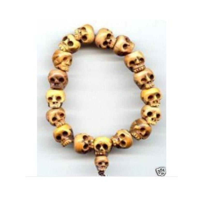 Free Shipping Tibetan Ox Bone Carved Skull Prayer Beads Bracelet Chain Necklaces Aliexpress