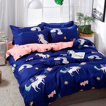 Solstice Home Textile Cartoon Polar bear Bedding Sets Children's Beddingset Bed Linen Duvet Cover Bed Sheet Pillowcase/bed Sets 1