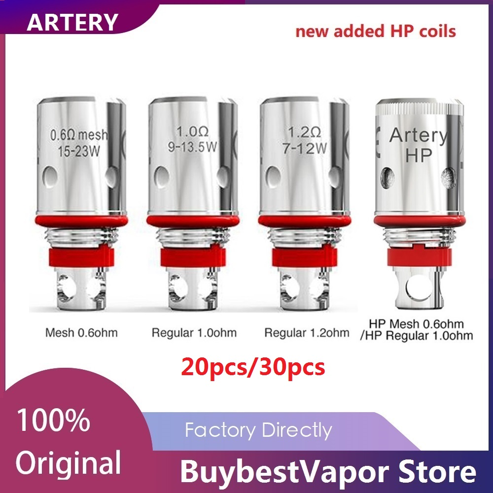 20pcs/30pcs Original Artery PAL II Coil With Mesh 0.6ohm/Regular 1.2ohm For Artery PAL 2 Pod Kit  Artery PAL 2 Replacement Coil