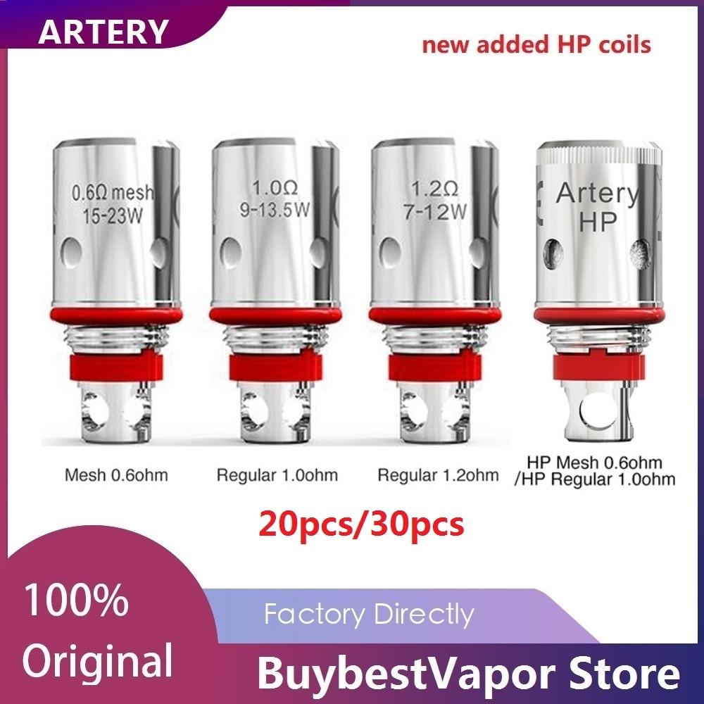 20pcs/30pcs Original Artery PAL II Coil With Mesh 0.6ohm/Regular 1.2ohm For Artery PAL 2 Pod Kit  Artery PAL 2 Replacement Coil