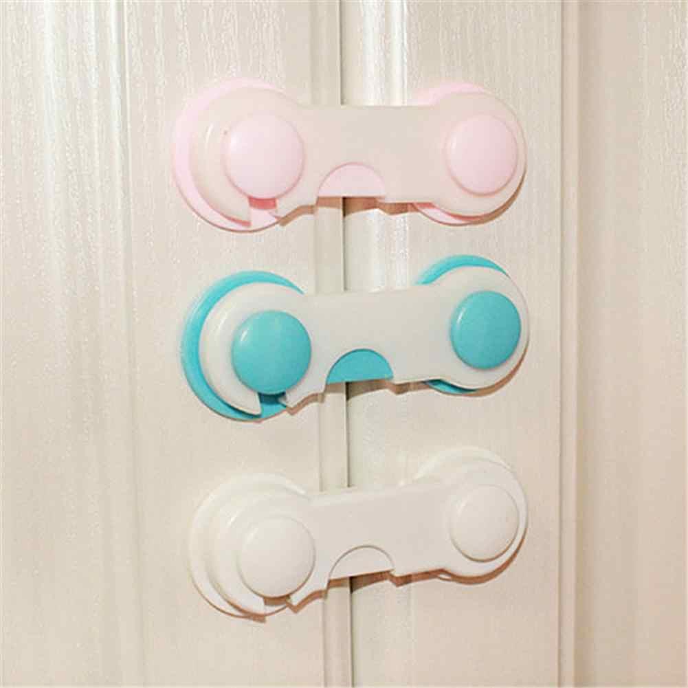 מגירת דלת ארון ארון שרותים מנעולי בטיחות תינוק ילדים בטיחות טיפול פלסטיק מנעולי רצועות תינוקות תינוק הגנה