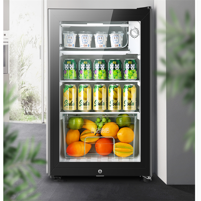 냉장고 90L мини одна дверь холодильник супер емкость ледяной бар холодильное микро замораживания офиса отель бытовой изысканный 220V 2