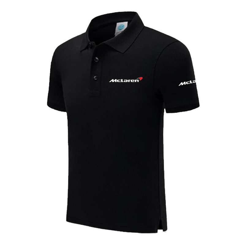 Top quality Summer New Men's short sleeve   polos   shirts solid color mens McLaren   polos   shirts male tops