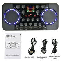 Singing Recording Gaming Bluetooth 4.0 For Phone Computer Voice Changer Sound Card Portable Live Broadcast Accessories External