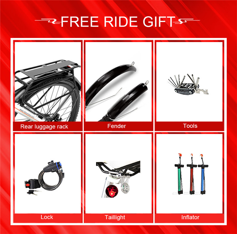 Flash Deal 26inch Electric mountain bike 36V lithium battery travel electric bicycle lighweight Ebike 0