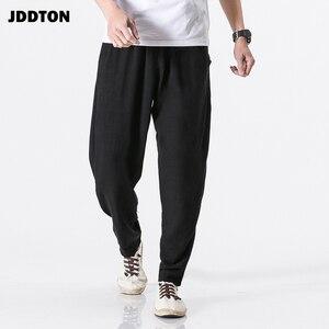 JDDTON Men Cotton Linen Harem