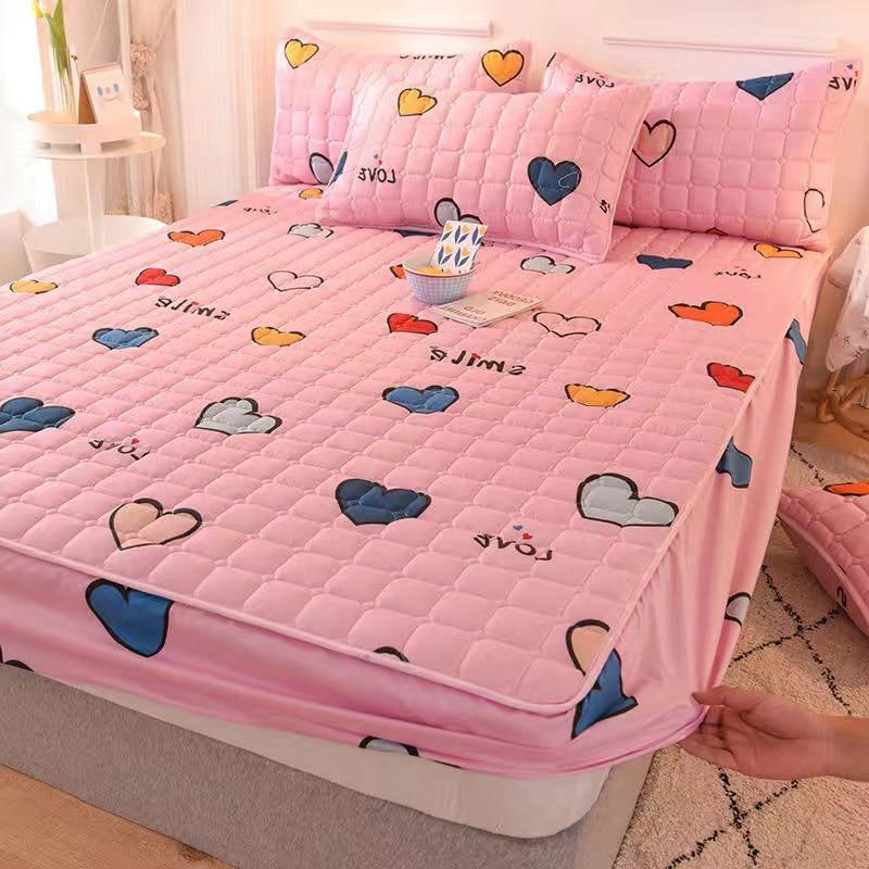 Kawaii Pink Cute Bed & Pillow Cover 1