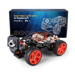 SunFounder App Remote Controlled Robot For Raspberry Pi Model 4B 3B+ B 2B Smart Video Car Kit V2.0 RC Car (RPi Not included)