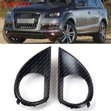 Frente Car Bumper Nevoeiro Luz de Nevoeiro da Tampa Com Furo Inferior Grille Para Audi Q7 2010 2011 2012 2013 2014 2015 Carro Styling