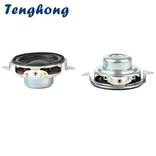 Tenghong 2pcs 40MM נייד אודיו רמקול 2Ohm 5W 16 Core מלא טווח בס רמקולי מולטימדיה רמקול עבור קולנוע ביתי DIY