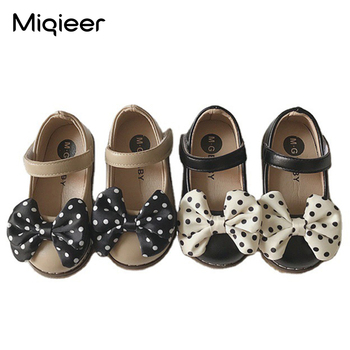 Girls PU Leather Shoes Spring Children Wave Point Bowknot Dance Princess Shoes Baby Toddler Soft Soles Non-slip Kids Flats Shoes abckids new spring autumn girls soft leather shoes children girls princess bowknot sneakers single shoes kids dance shoes rubber