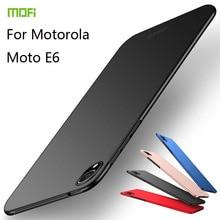 MOFi For Motorola Moto E6 Cover Case PC Hard Luxury Protection Back Fundas Phone Shell
