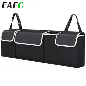 Adjustable Car Trunk Organizer Backseat Storage Bag High Capacity Multi-use Oxford Car Seat Back Organizers Automobile Interior