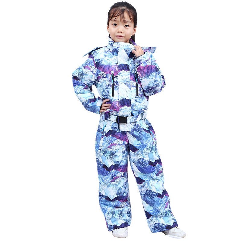 Kids Ski Suit 2021 Winter New Children One-Piece Ski Suit Warm Girl Overalls Outdoor Snowboard Jacket Boy Jacket