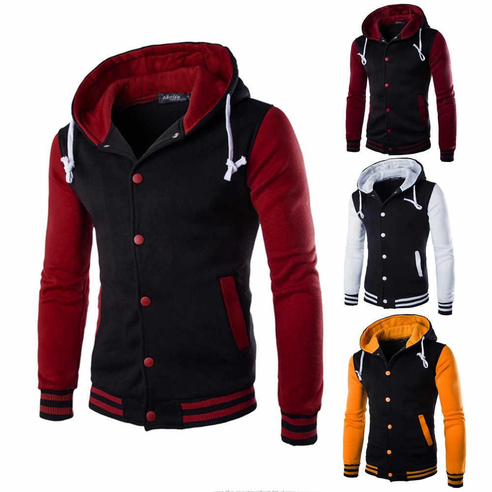 KANCOOLD 자켓 남성 2019 캐주얼 코트 남성 코트 자켓 아웃웨어 스웨터 봄 슬림 코트 까마귀 따뜻한 후드 티 셔츠 816