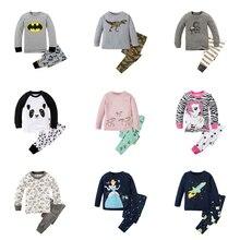 Детские пижамы из 100 хлопка Детская Пижама с вышитыми сердечками пижамы для детей от 2 до 7 лет, детская одежда для сна, пижамы