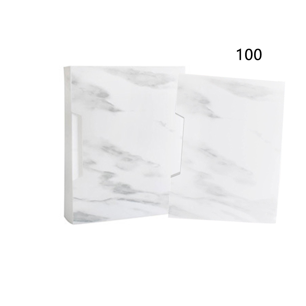 A4 File Folder Stationery Paper Bag Office Waterproof Portable Storage Student School Business Documents Children Marble Pattern