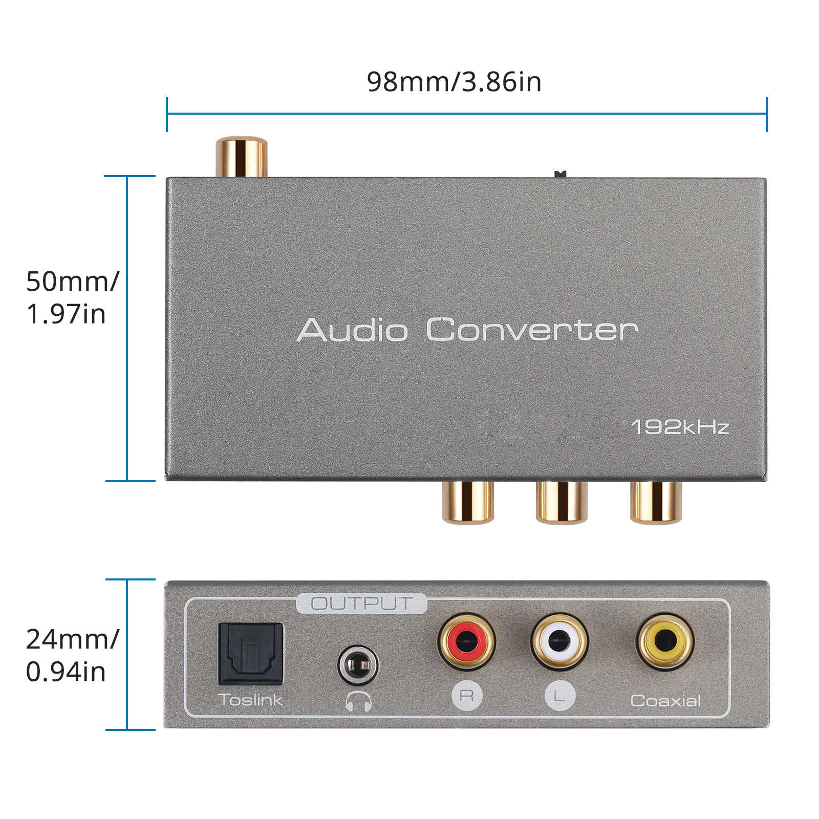 ESYNiC HDMI ARC Audio Converter 192K DAC Digitale Analogico Audio Converter Ottico Toslink Coassiale L/R 3.5 millimetri estrattore Adattatore