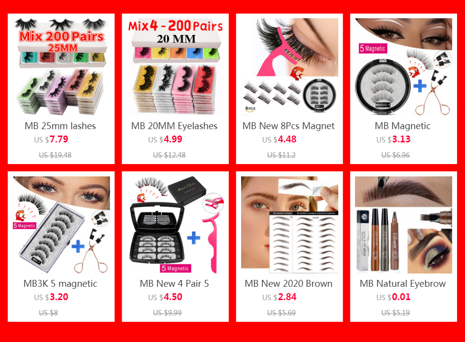 H6f099cdd875049bd9f6560120d2e09dao - MB Eyelashes Wholesale 40/50/100/200pcs 6D Mink Lashes Natural False Eyelashes Long Set faux cils Bulk Makeup wholesale lashes