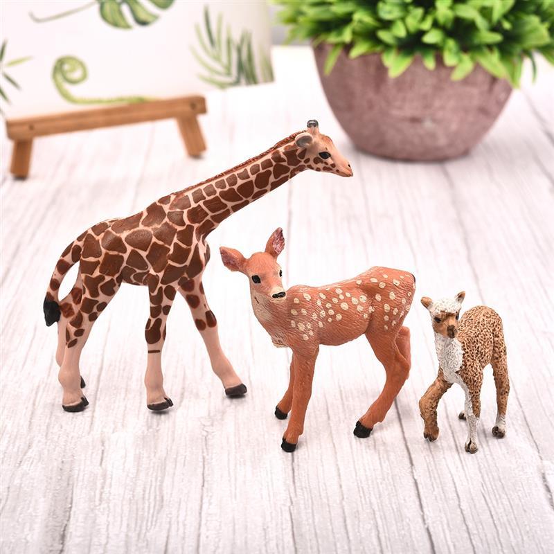Artificial Mini Sika Deer Baby Alpaca Giraffe Animal Miniature Figurines Toys Fairy Garden Miniatures Home Decor Gift For Kids