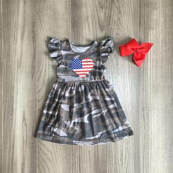 Girls Camo Heart Dress