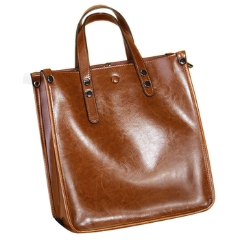 Well-Made, Large-Capacity Minimalist Tote Bag, Fashion,Hand-Held Women's Bag, Leather Shopping Bag, One-Shoulder Bag