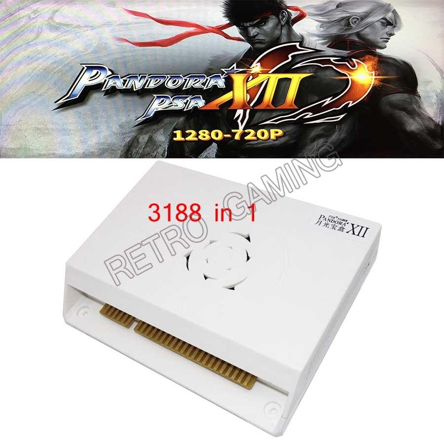 Pandora XII 3188 in 1 board 53pcs 3D Games Box 12 support 3/4P Jamma version Arcade Machine video gamepad set HDMI VGA 2620 in 1(China)