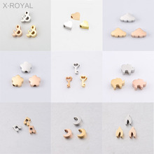 X-ROYAL 10Pcs/lot 15 Styles DIY Jewelry Findings Loose Beads Heart Wishbone Clouds Key Music Note Animal Moon Shape Spacer