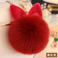 Lovely Rabbit Ear Hair Ball Accessories Rex Bag Velvet Keyboard