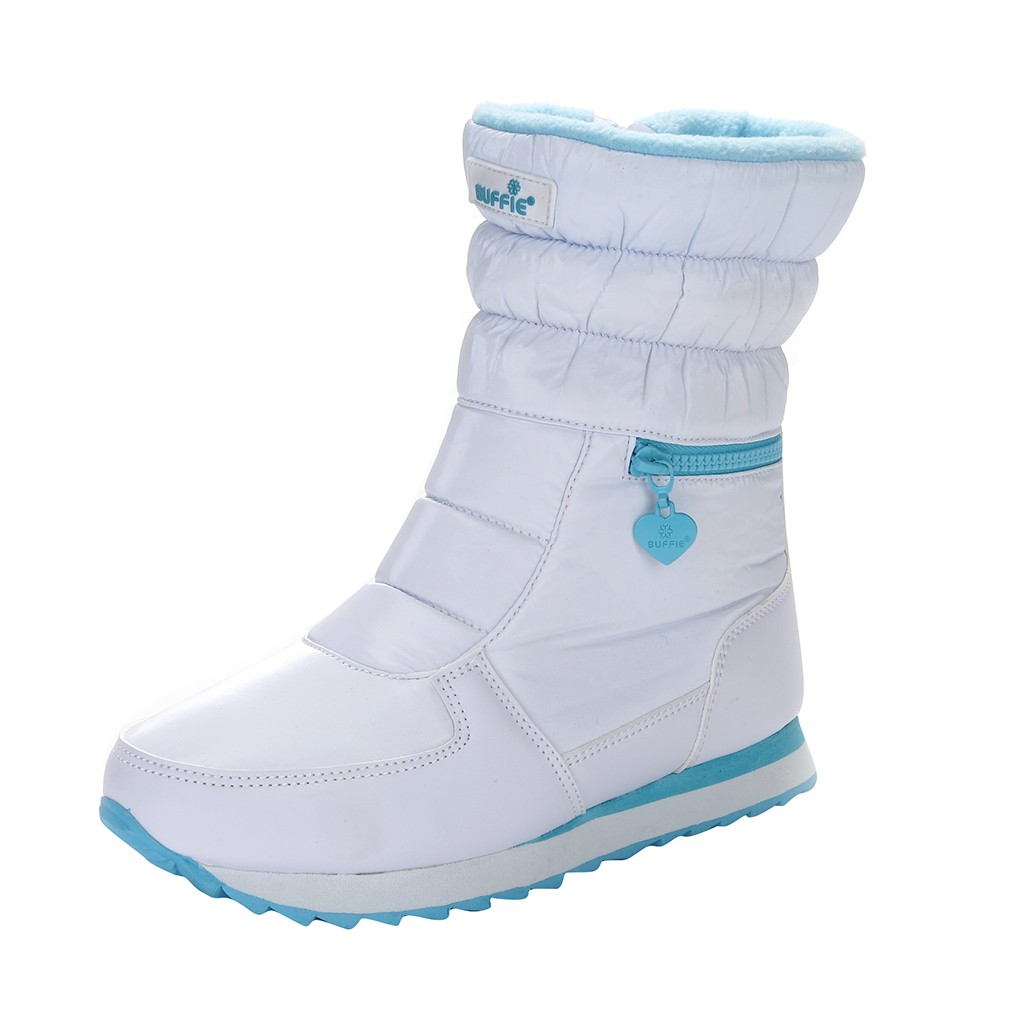 SAGACE Women's Snow Boots Platform Mid-Calf Lined Waterproof Snow Boot Warm Women Round Toe Plus Size Thick Fur Heels Boot Sep 4