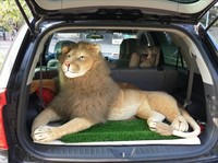 large plush real life lion toy huge stuffed simulation lying lion doll gift about 120x65cm xf2996