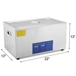 30L Heater Timer Ultrasonic Cleaner Tank Bath Cleaning Stainless Steel Machine Industry Equipment