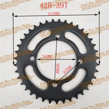 Rear Sprocket Bike Gear-Spare-Parts 428 Chain Dirt-Pit Motocross 39 Tooth-76mm Fitting