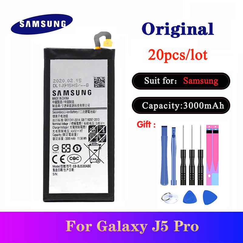 20pcs/lot Battery EB-BJ530ABE For <font><b>Samsung</b></font> Galaxy <font><b>J5</b></font> Pro 2017 J530 SM-J530K /J530F /J530Y /J530G NEW Orgina <font><b>bateria</b></font> 3000mAh image