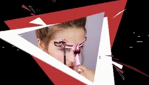 Image 5 - Adjustable Eyebrow Shapes Stencil 3 In 1 Portable Handheld Eyebrow Makeup Model Template Tool Drop Shipping