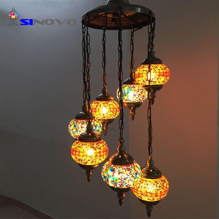 6 Sinovo Creativo di Stile Turco di Shenzhen Grande Albergo Ottone Antico Ramo Lampadario con Teste di Luce Lampadario Cucina - 5
