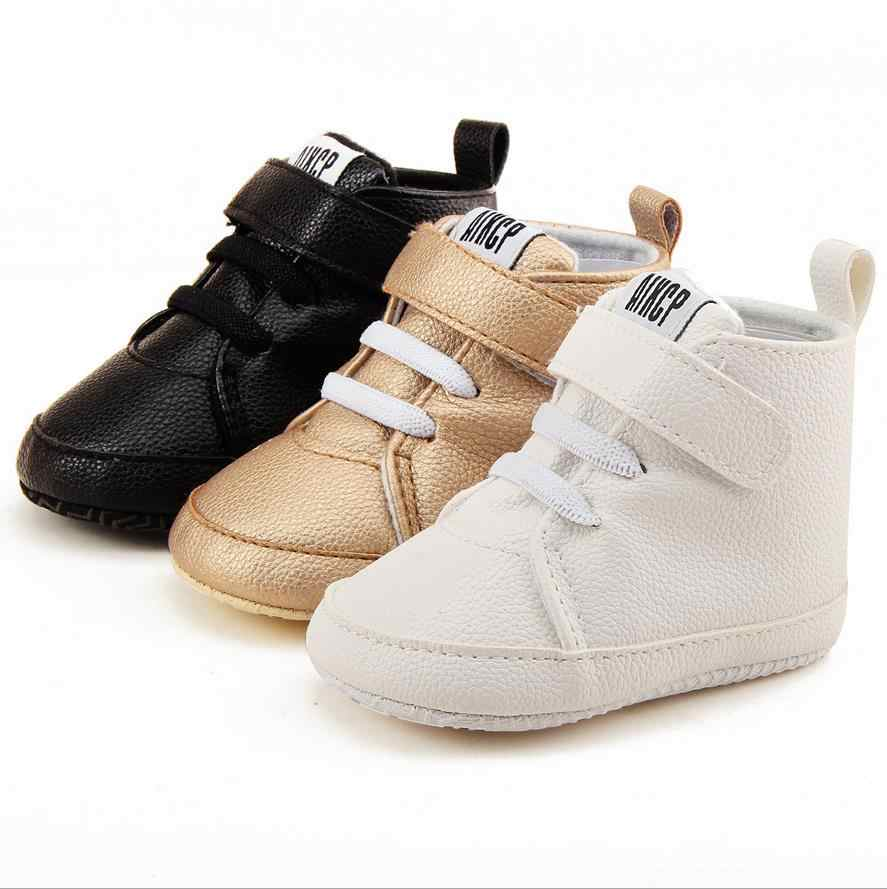 0-18M Baby Girls Boys Pu Leather Boots Baby Cotton Sole Infrant Toddler Baby Boy Shoes First Walkers