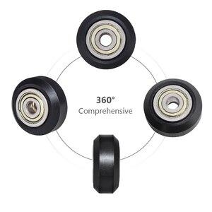 Image 3 - 12/24 pièces CNC openbuild roue POM en plastique avec 625zz roue de poulie ronde Passive/v slot Perlin roue de poulie pour CR10 Ender 3