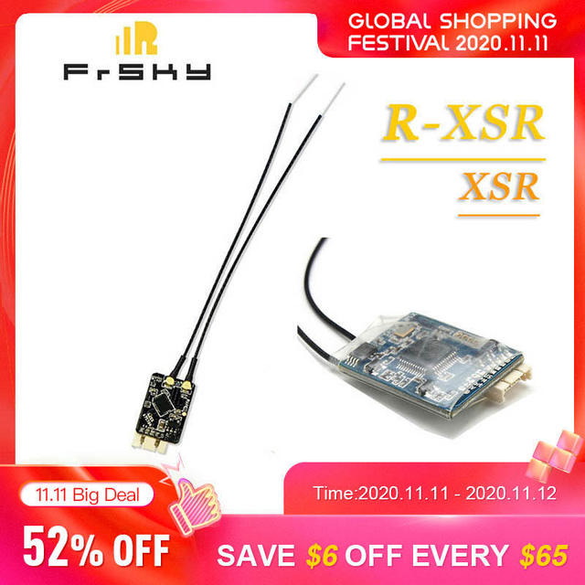 Original FrSky R XSR/XSR Ultra SBUS/CPPM D16 16CH Mini Redundancy Receiver For RC Quadcopter Multirotor Antenna Spare Part