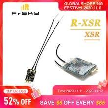 Original frsky R XSR/xsr ultra sbus/cppm d16 16ch mini receptor de redundância para rc quadcopter antena multirotor peça de reposição