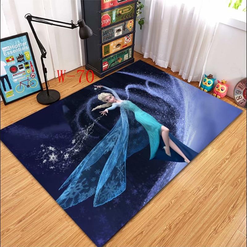 Disney Anna Elsa Mat Bathroom Child Boy Girl Carpet Hallway Doormat Anti - Slip Bathroom Carpet Absorb Water Kitchen Mat/Rug
