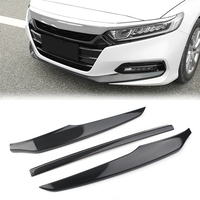 Car Front Bumper Lip Protective Cover Trim For Honda 10th Accord 2018 2019 ABS Plastic Carbon Fiber Styling 4 Colors