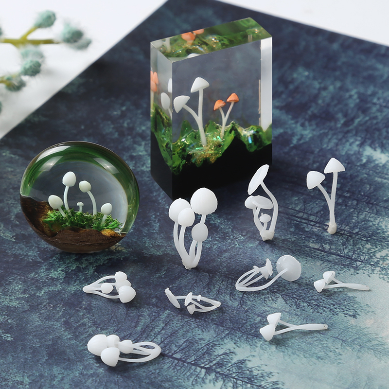 3pcs/lot 3D Micro Landscape Mini Mushroom Film DIY Craft Nail Handmade Resin Jewelry UV Epoxy Jewerly Filling Molds Tool