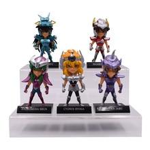Figuras de acción de Saint Seiya, set de 5 unidades de figuras coleccionables de PVC de los caballeros del zodiaco, regalo de Navidad