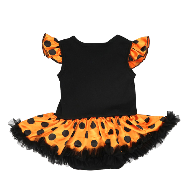Halloween Costume for Girls Theme Party Cute Baby Girls Outfits Flutter Sleeve Romper Dress 3pcs Set Halloween Party Clothes 1