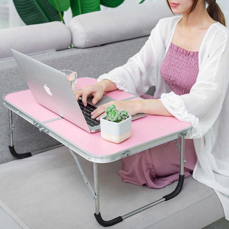 EBTOOLS Escritorio Plegable Beige 54.5 /× 36 /× 27 cm Soporte para computadora port/átil Mesa de Desayuno Bandeja de Cama Computadora Mesa de Servicio port/átil para PC Tablet Lectura